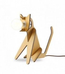 Lampe SIT DOG -Sperrholz--Beech