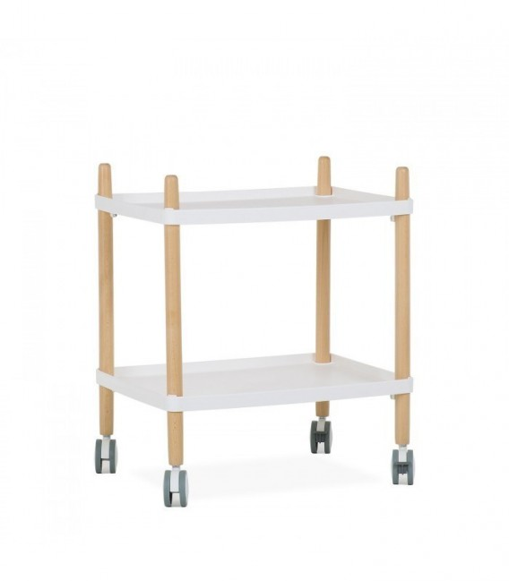 CUFIE Service Cart - Coffee Table-White