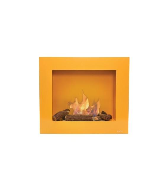 Biochimenea de pared color ocre claro Limited Edition BESTBIO-O