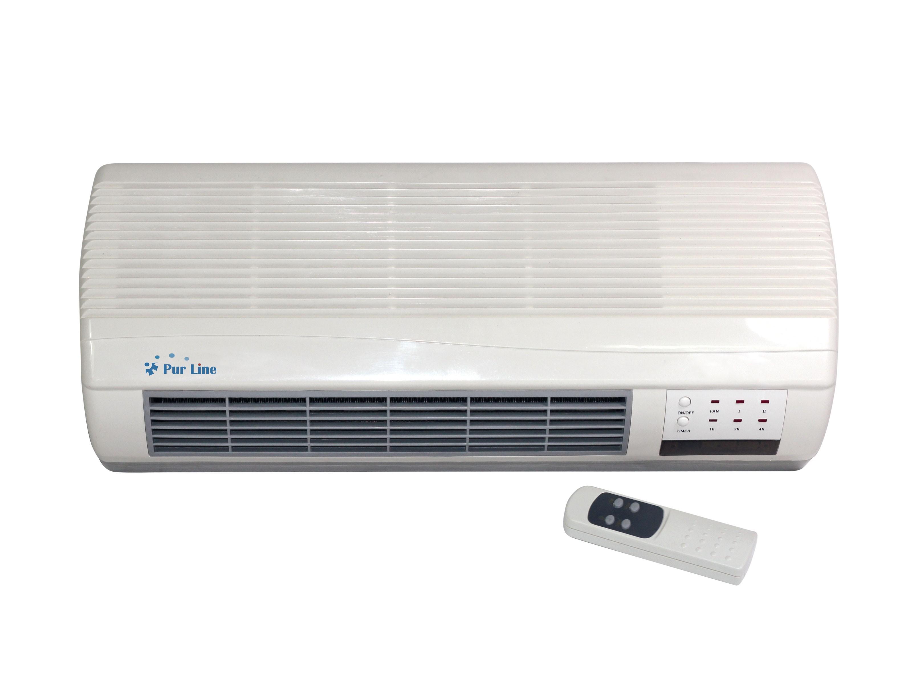 Calefactor mural cerámico soplante de bajo consumo y mando a distancia