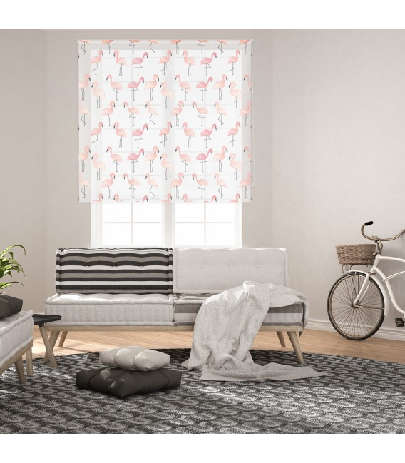 ROOM FLAMINGOS PRINT ROLLED STORE