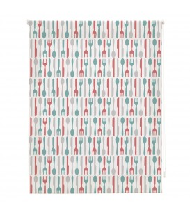 KITCHEN FORKS PRINT ROLLED STORE
