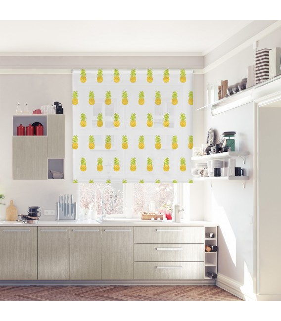 KITCHEN PINEAPPLES PRINT ROLLED STORE