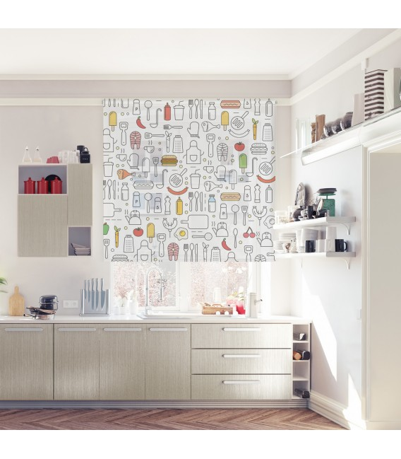 KITCHEN COLORS PRINT ROLLED STORE