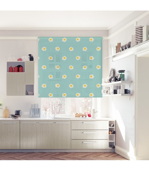 KITCHEN EGGS PRINT ROLLED STORE