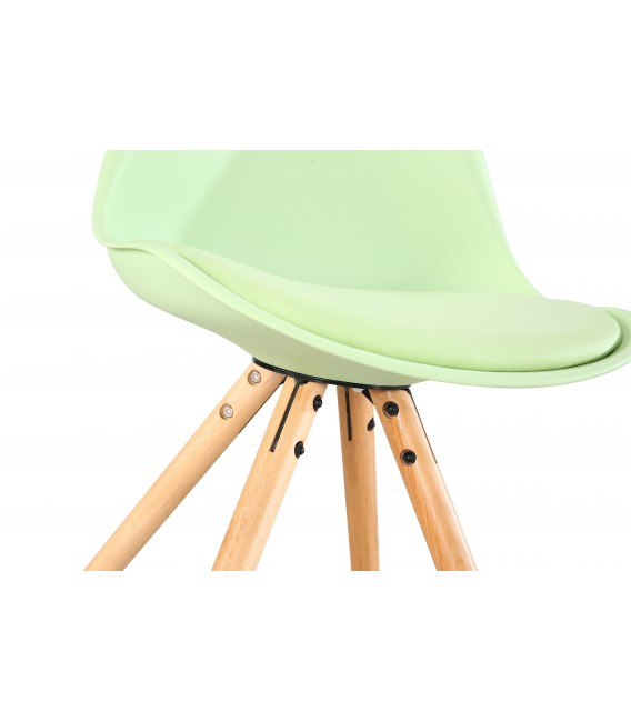 SCANDINAVIAN MINT CHAIR WITH WOOD LEGS