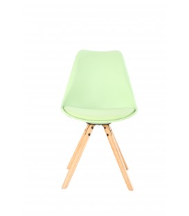 PACK X2 SCANDINAVIAN MINT CHAIR WITH WOOD LEGS