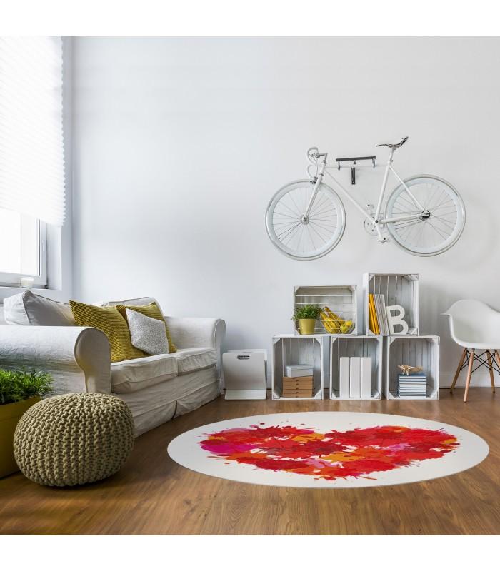vinyl teppich rundeform mobelium. Black Bedroom Furniture Sets. Home Design Ideas