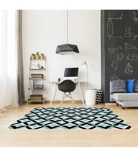 GEOMETRIC VINYL CARPET