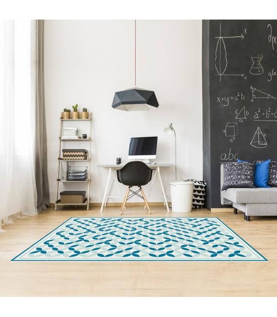 geometrischer vinyl teppich mobelium. Black Bedroom Furniture Sets. Home Design Ideas