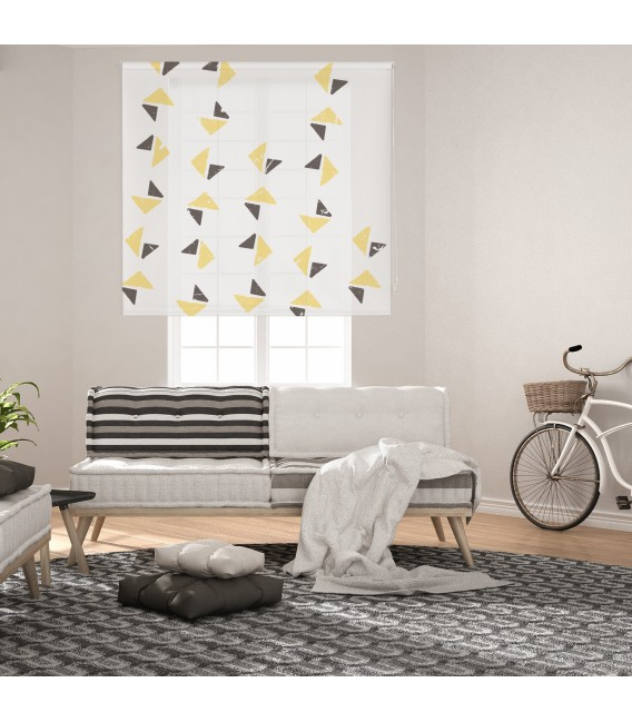 ROOM TRIANGLE PRINT ROLLED STORE