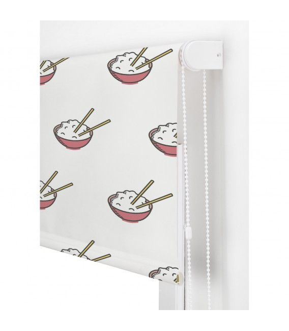 KITCHEN RICE PRINT ROLLED STORE