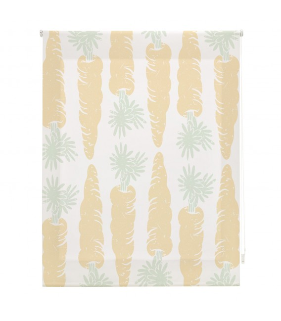 KITCHEN CARROTS PRINT ROLLED STORE