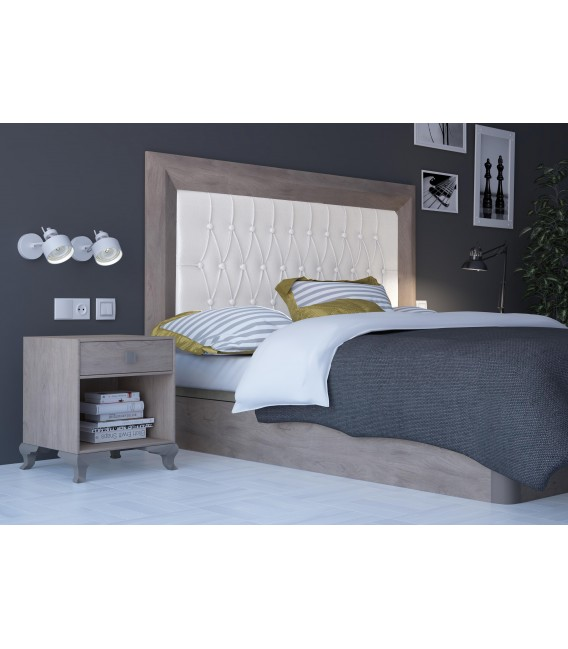 HEADBOARD PRAGA 160 CM CAMBRIAN/WHITE