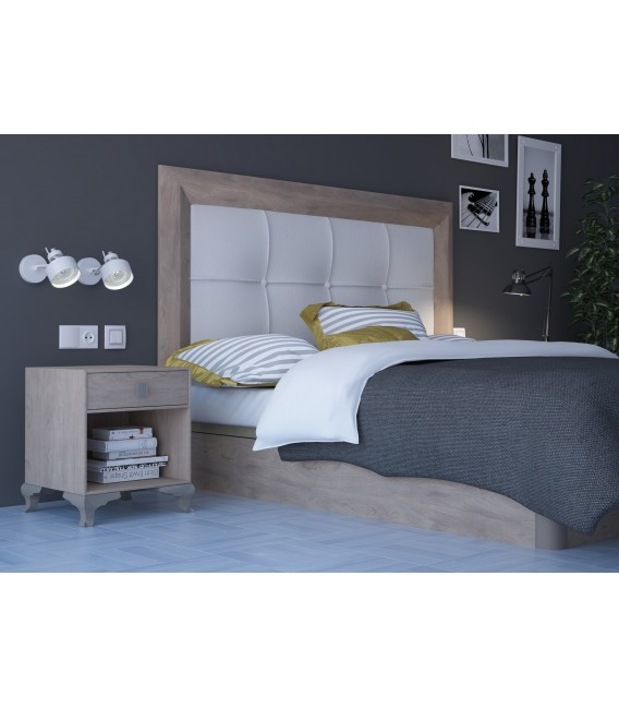 HEADBOARD ROMA 140 CM CAMBRIAN/WHITE