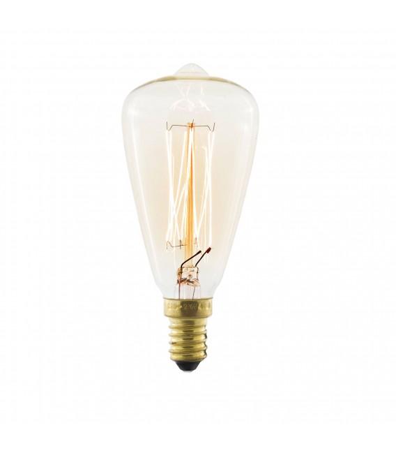ampoule edison vintage 7 clear st38 e14 40w mobelium. Black Bedroom Furniture Sets. Home Design Ideas