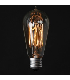 EDISON 13-CLEAR Vintage Glühlampe ST58 E27 40W