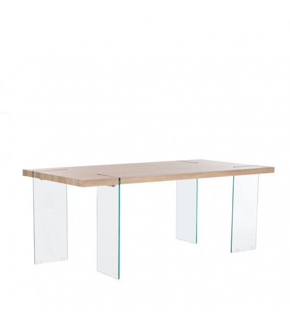 TOPPED Table 190x95 -MDF e Glass-