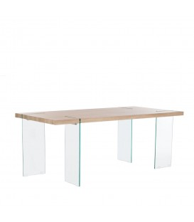 Table TOPPED 190x95 -MDF et Verre-