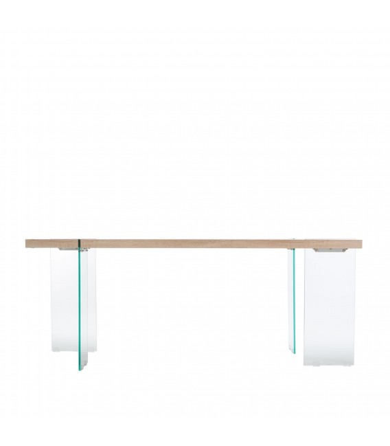 TOPPED Tisch 190x95 -MDF und Glas-