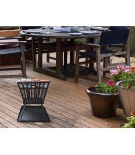 Braciere da esterno in legno con griglia per barbecue EFP3