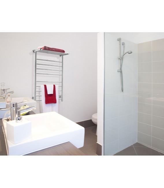 Toallero eléctrico acero inox con reposa toallas horizontal NTW-04 de